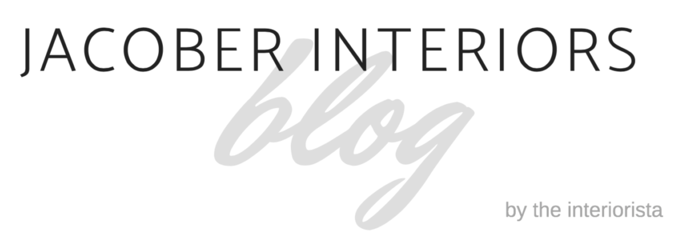 Jacober Interiors Blog